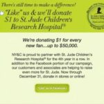 New York & Company: $1 Donation to St. Jude for Every New Facebook Fan