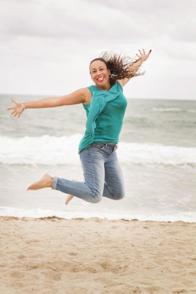 Leanette Fernandez Jumping