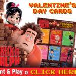 FREE Wreck-It Ralph Printable Valentine's Cards
