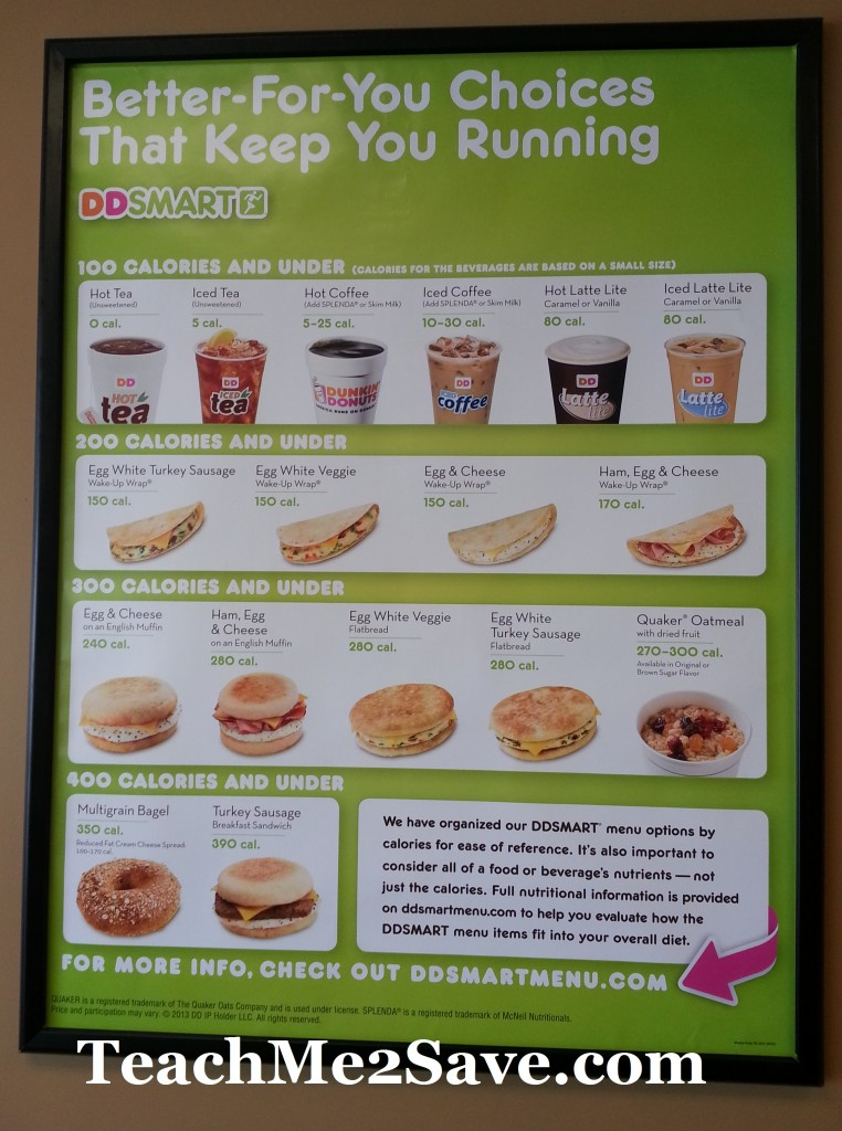 Dunkin Donuts Food Allergy Menu