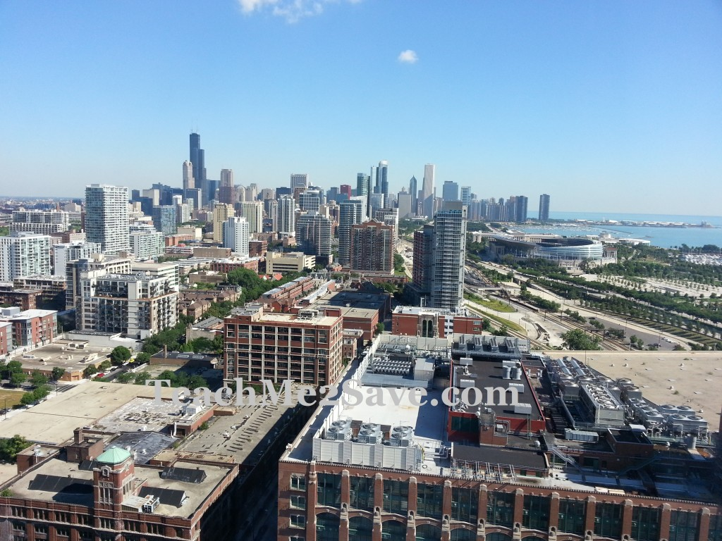 Chicago View from Hyatt McCormick