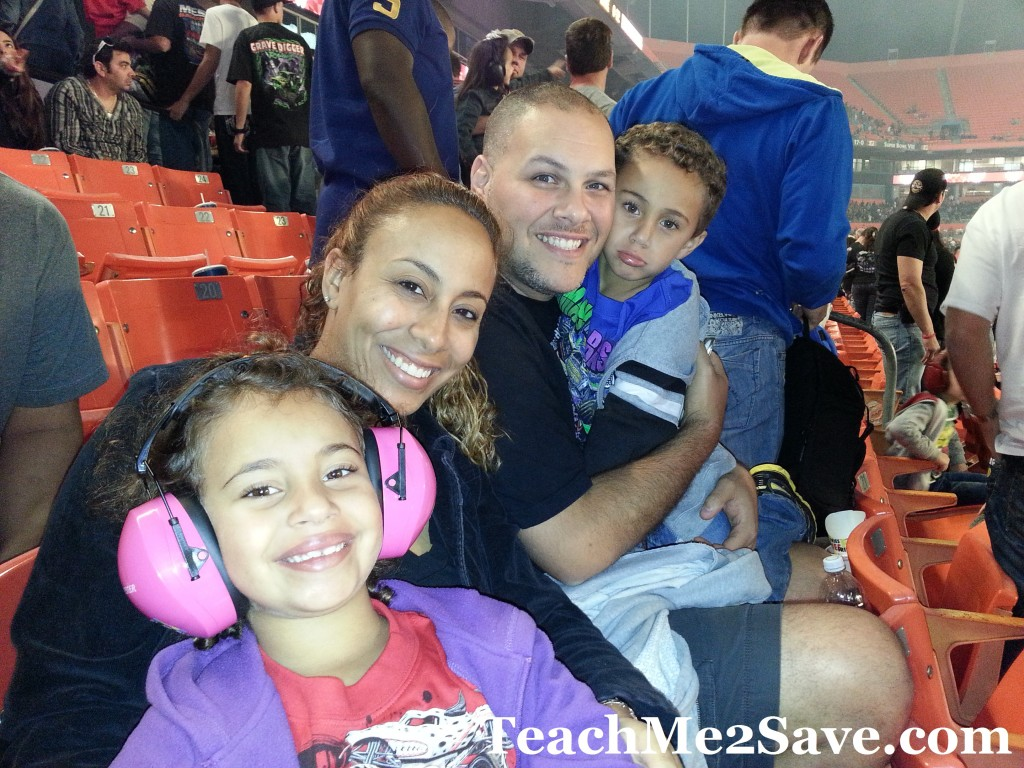 Our Family at Monster Jam 2013