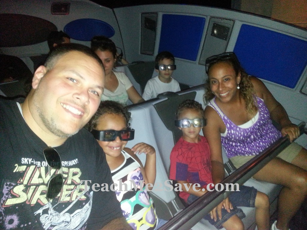 Our Family on the Transformers 3-D Ride
