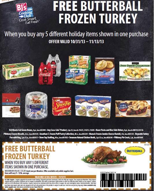 BJs Free Turkey 2013
