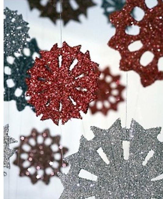 Cardboard Snowflake Ornament