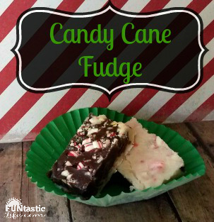 candy cane fudge - FuntasticLife