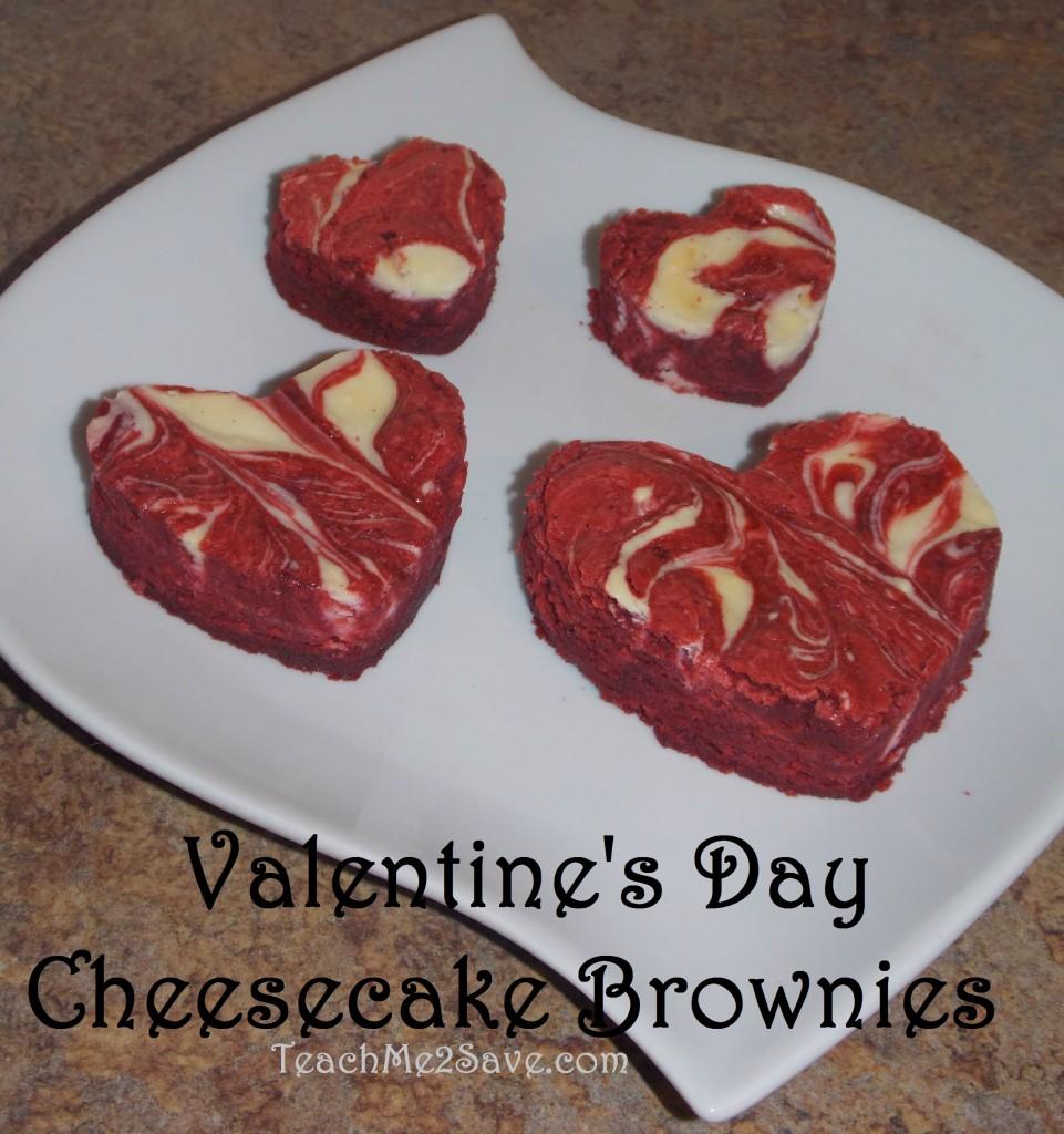 Valentine's Day Cheesecake Brownies