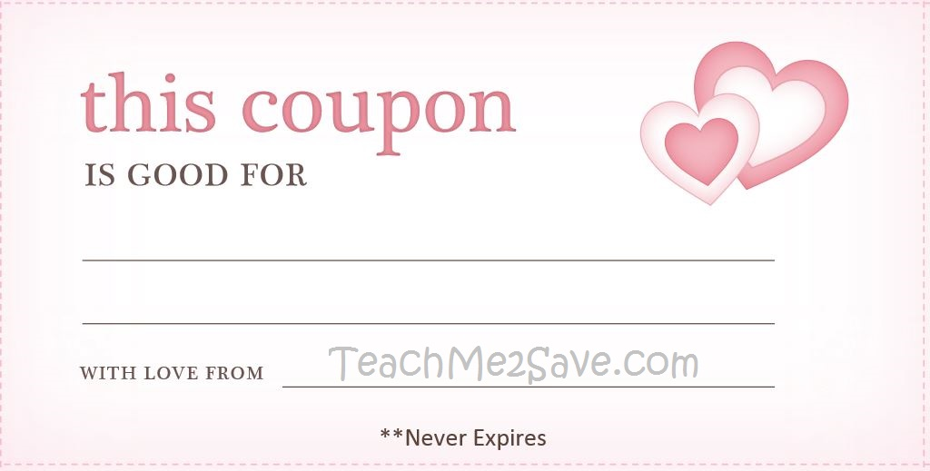 Valentine's Day Coupon Book Printable TM2S