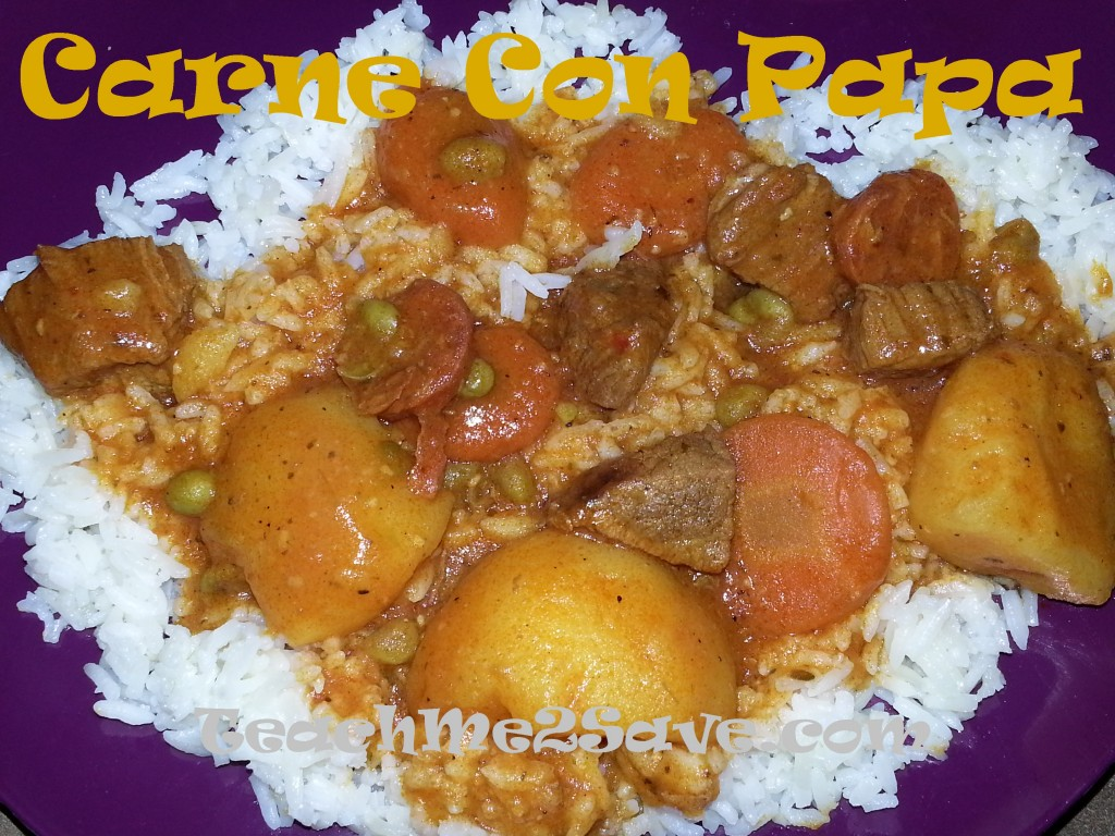 Carne con papa recipe - TM2S