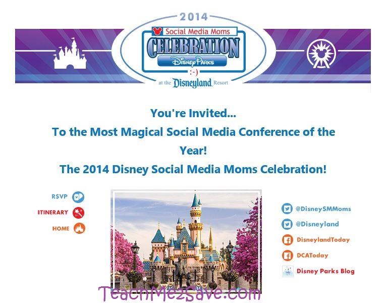 Disney Social Media Moms Conference 2014 Invite TM2S