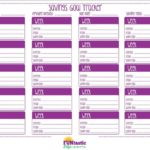 Free Printable Savings Goal Tracker