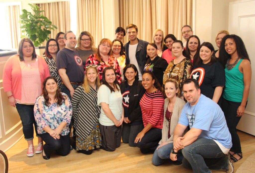 Sebastian Stan Group Photo with Leanette