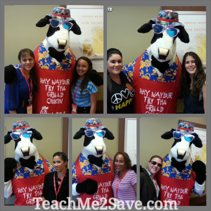 Chick-fil-A Grilled Chicken Taste Event Cow Collage