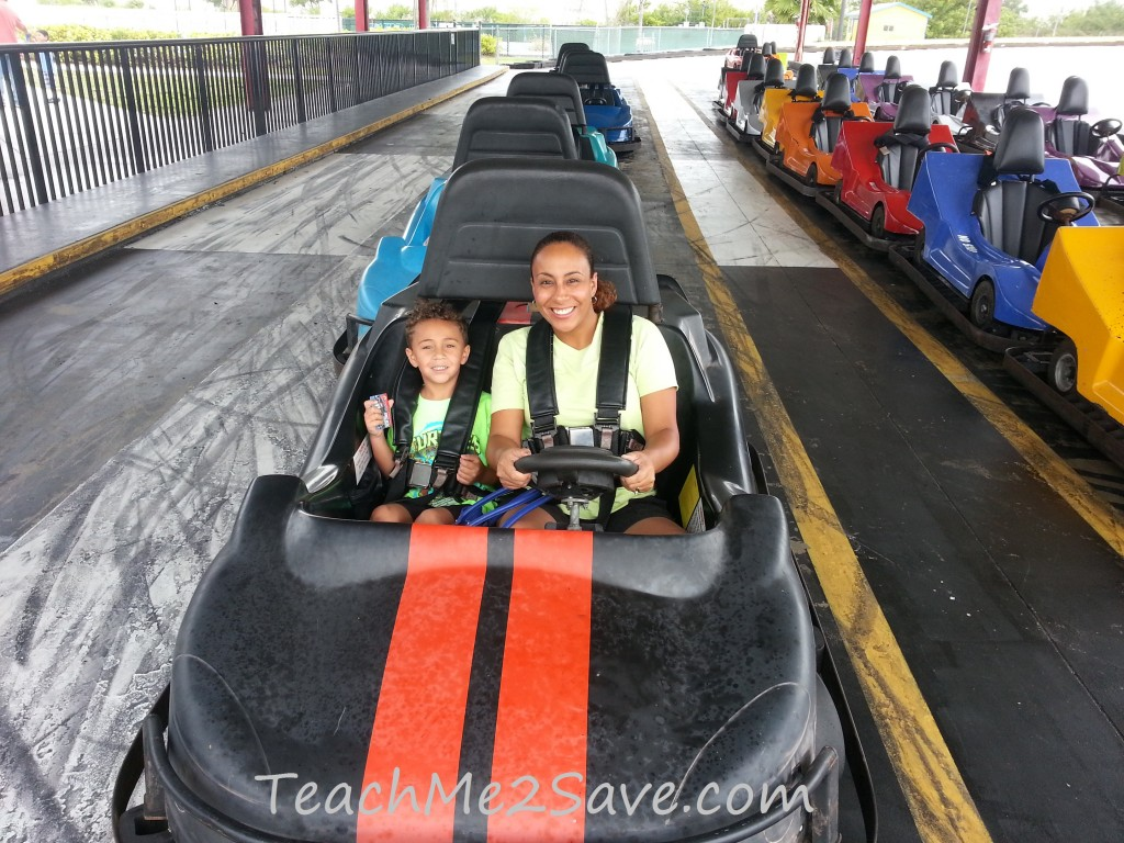 Boomers Go-Kart ride with son