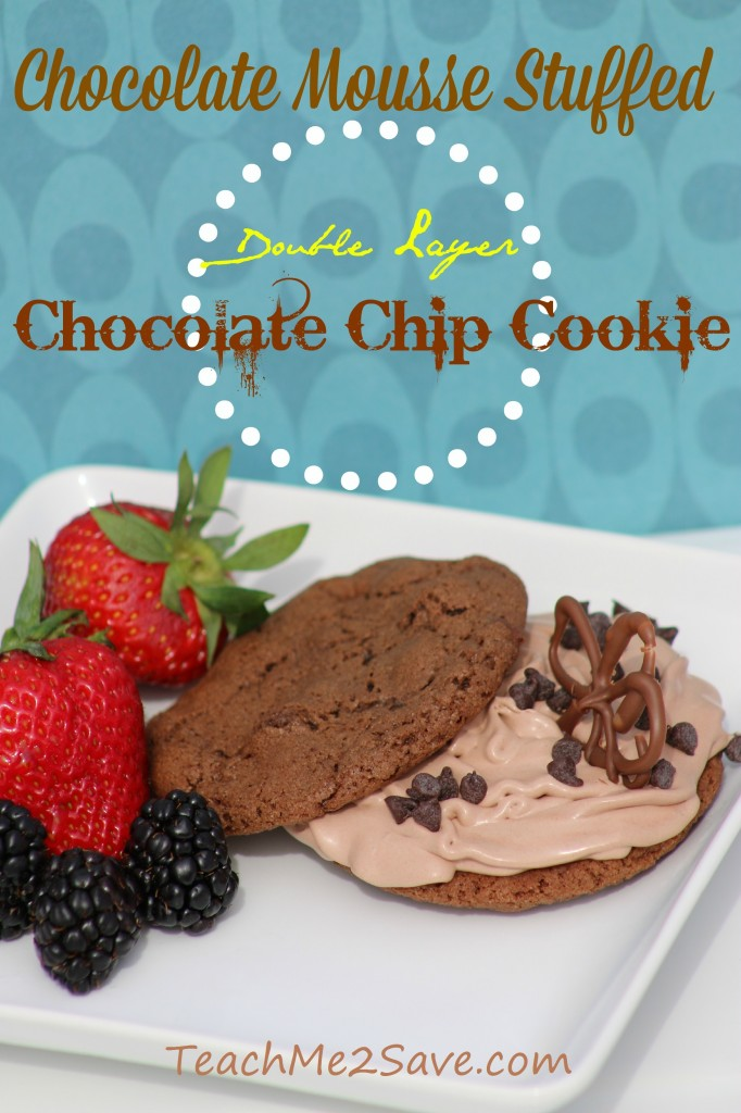 Chocolate Mousse Stuffed Chocolate Chip Cookie Recipe - TM2S
