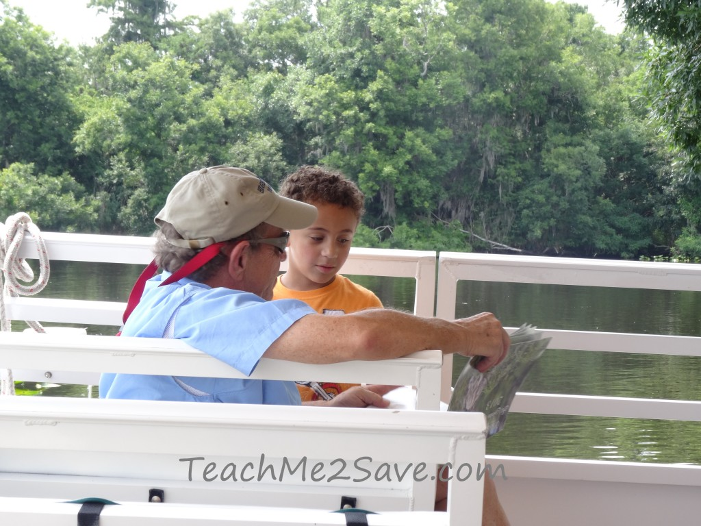 St.John's River Eco Tours Guide answering questions - TM2S
