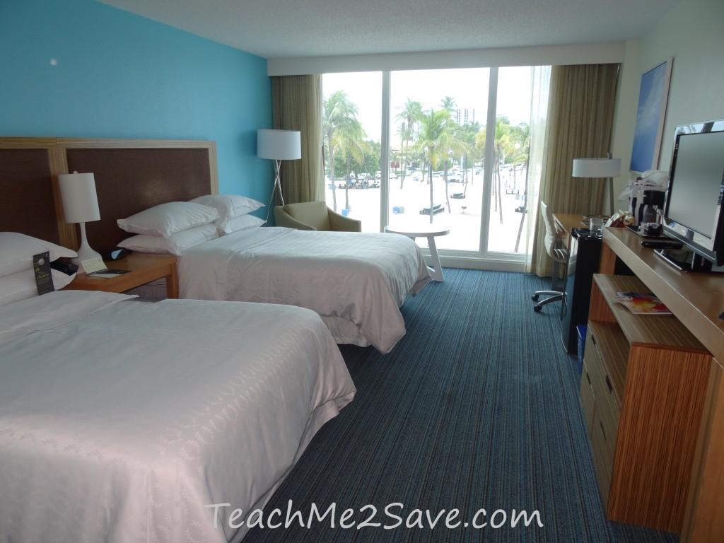 Sheraton Beach Fort Lauderdale Hotel Room