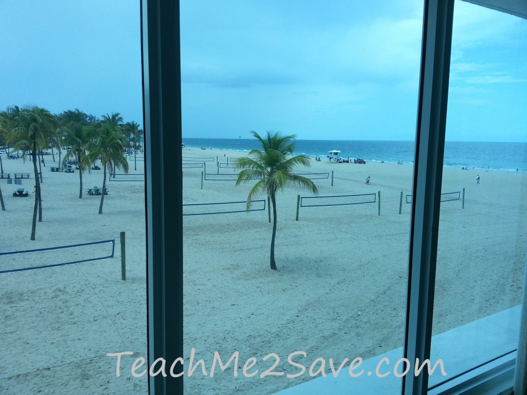 Sheraton Beach Fort Lauderdale Hotel View of the beach