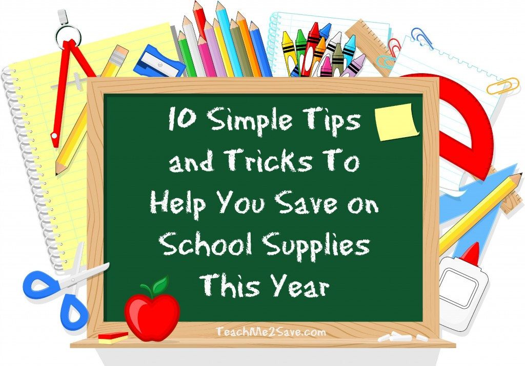 10 Simple Tips And Tricks To Help You Save On School
