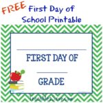 FREE First Day of School Printable