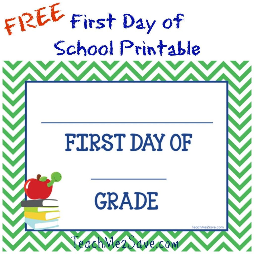 It is a photo of Current First Day of School Free Printable