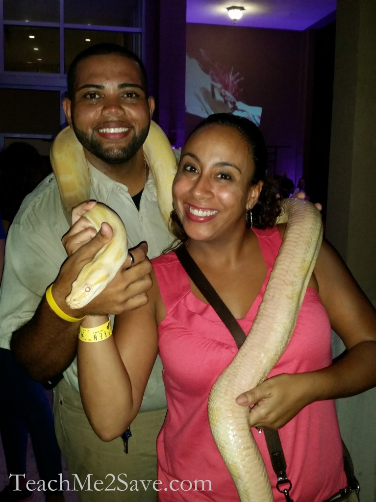 Terror In The Jungle - Leanette Fernandez with snake
