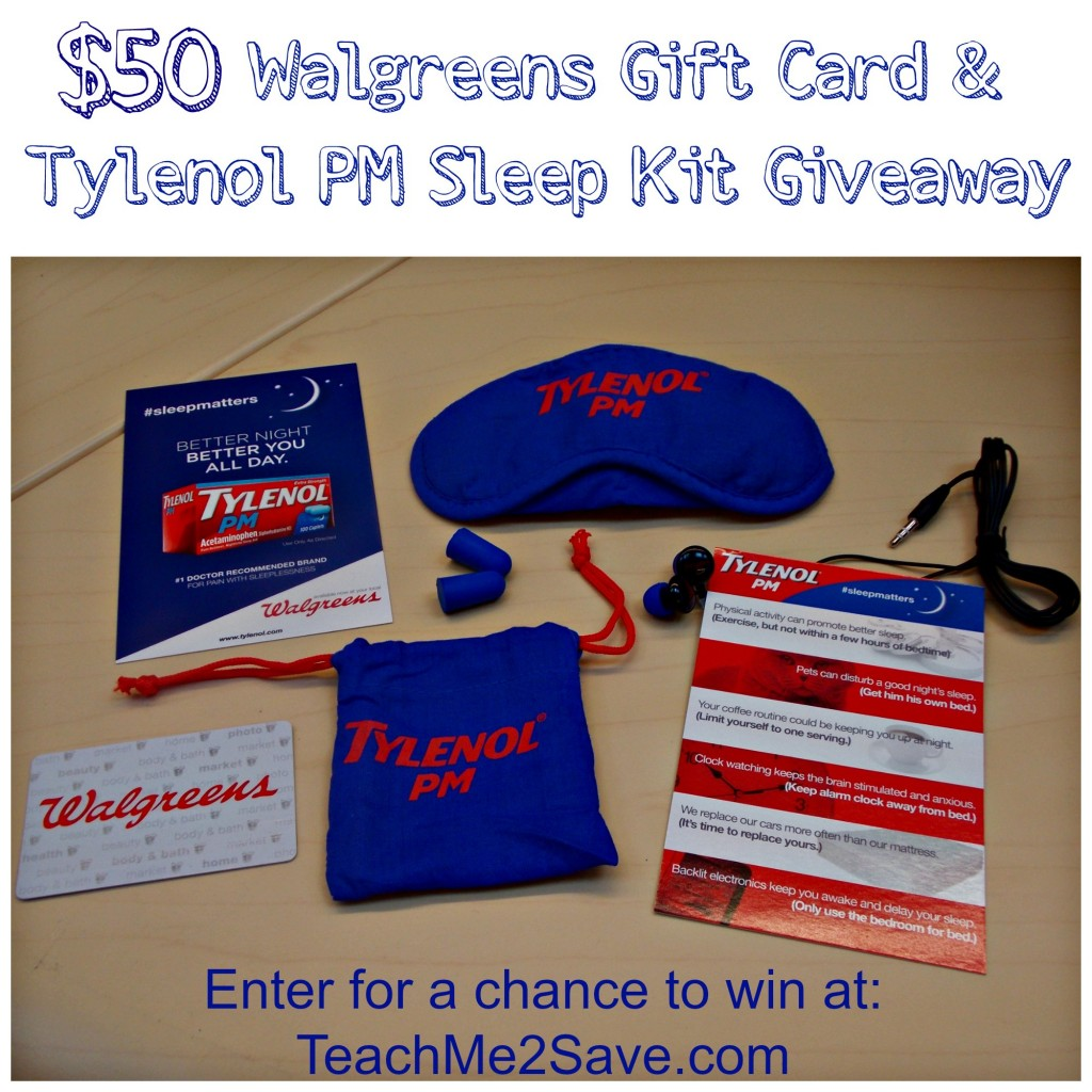 Tylenol PM Welcome Kit Giveaway