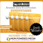 SquishDelish! Reusable Baby Food Pouches Sweepstakes