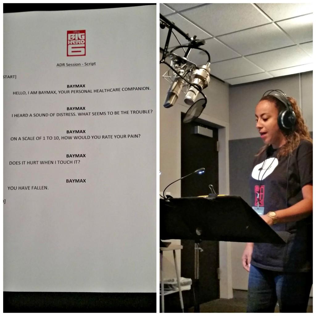 Leanette Fernandez Big Hero 6 Recording Studio Collage