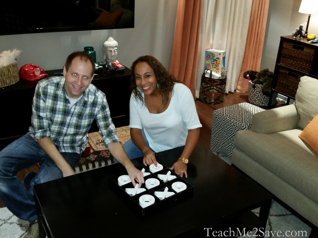 black-ish tic-tac-toe game between Leanette Fernandez and Marshall