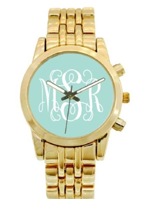 pink monogram watch
