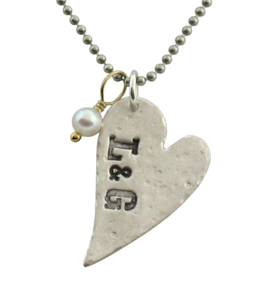 Distressed Heart Necklace