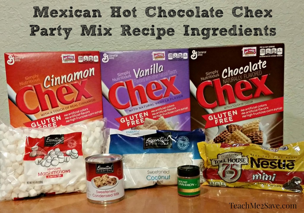 Mexican Hot Chocolate Chex Party Mix Recipe Ingredients - TM2S