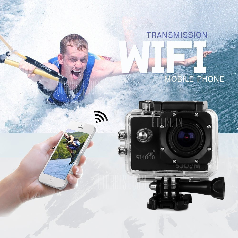 SJCAM SJ4000 WiFi IP68 Waterproof 1080P FHD 1.5 Inch LCD Car DVR Action Camera Sport DV