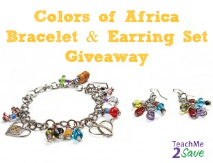Colors of Africa Bracelet & Earring Set Giveaway
