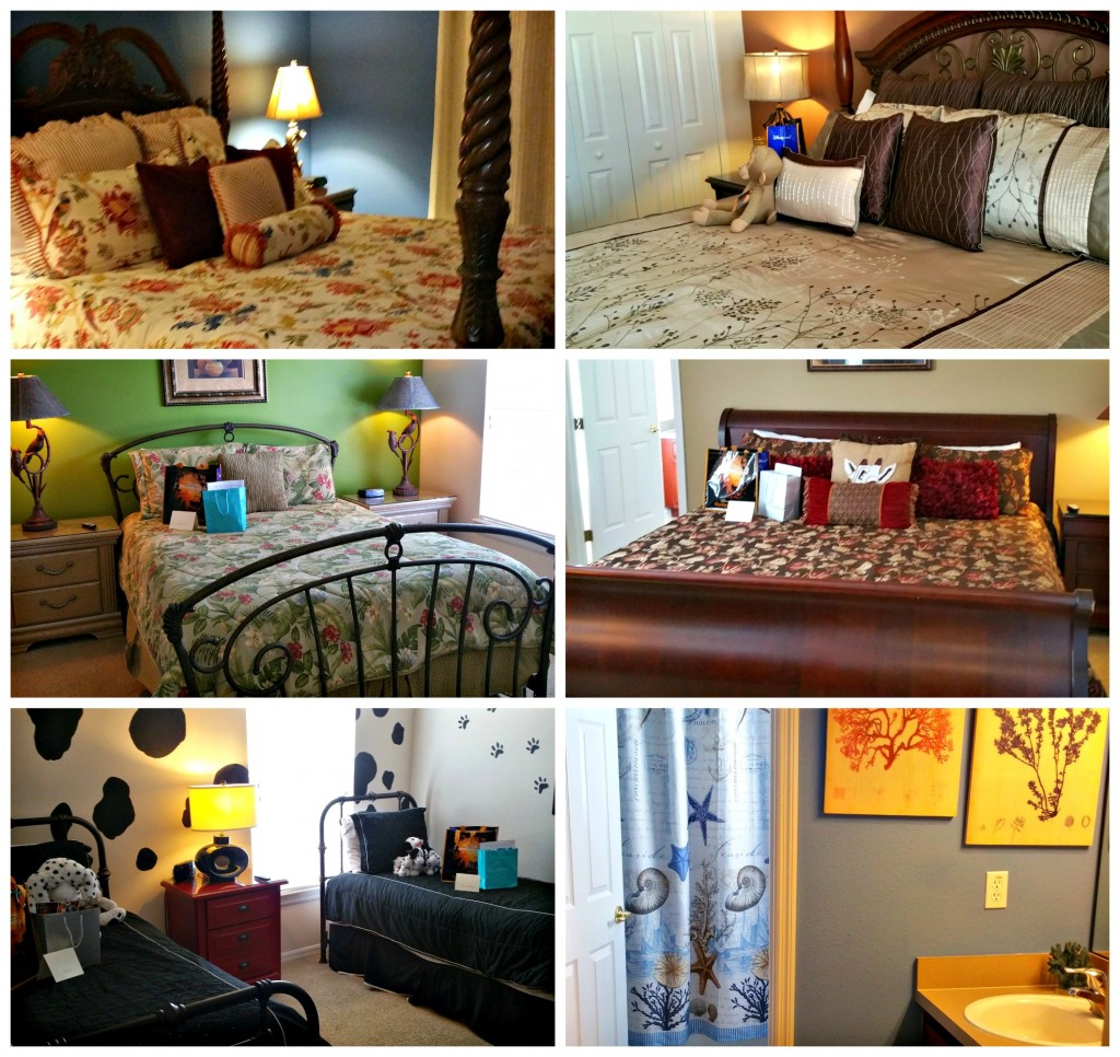 All Star Vacation Home Bedrooms Collage