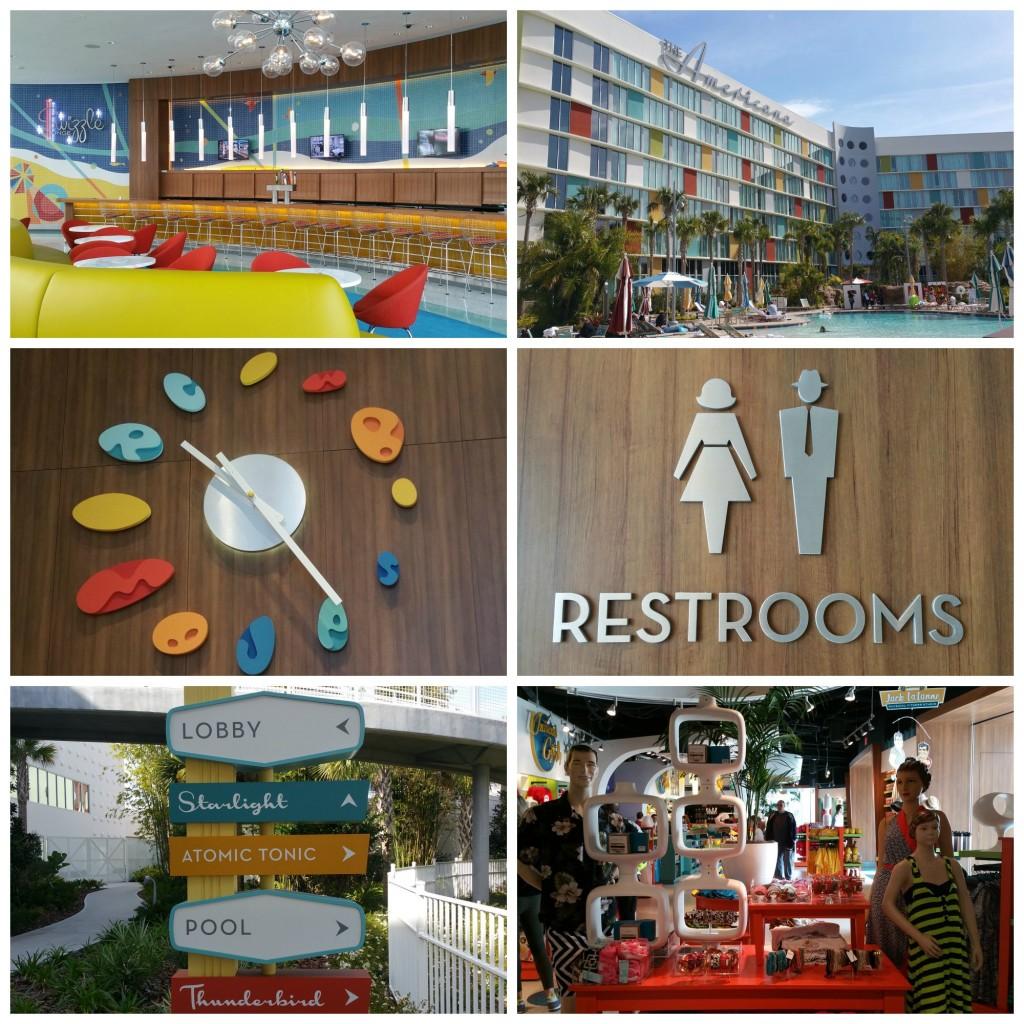 Cabana Bay Beach Resort Decor Collage