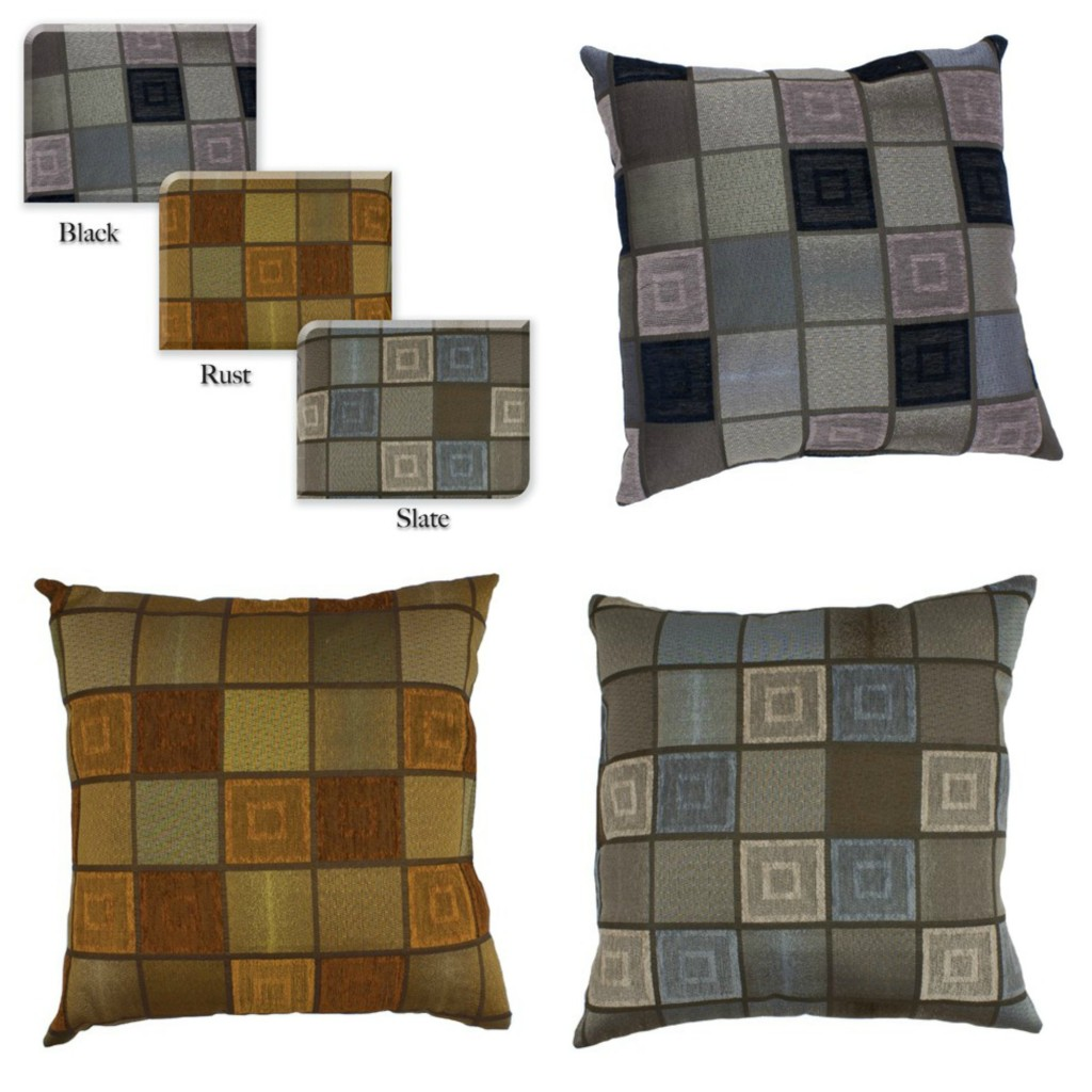 Window Pane Faux Suede Toss Pillow Collage