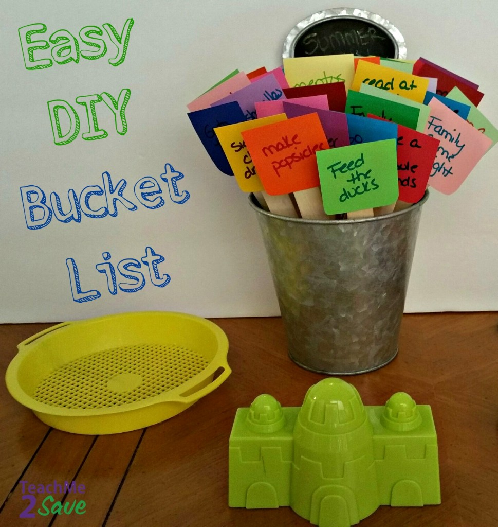 Easy DIY Bucket List - TM2S