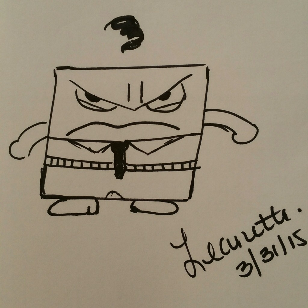 Inside Out Drawing of Anger by Leanette Fernandez