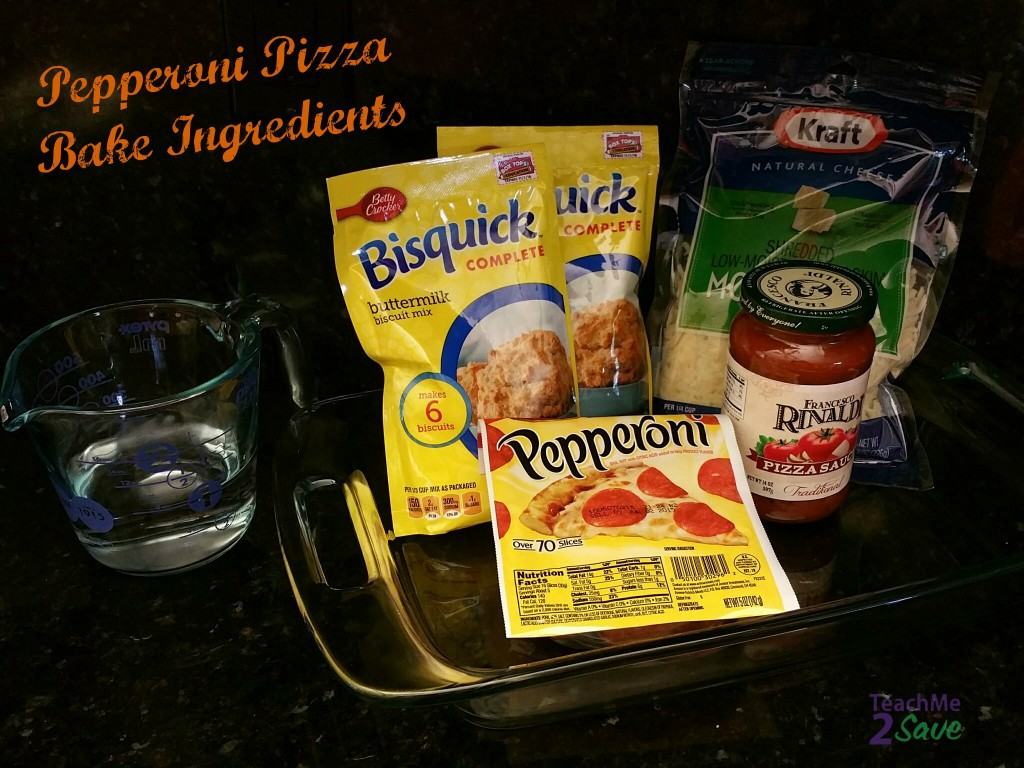 Pepperoni Pizza Bake Ingredients TM2S