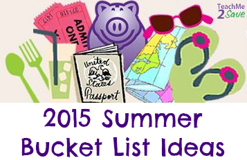 Summer 2015 Bucket List