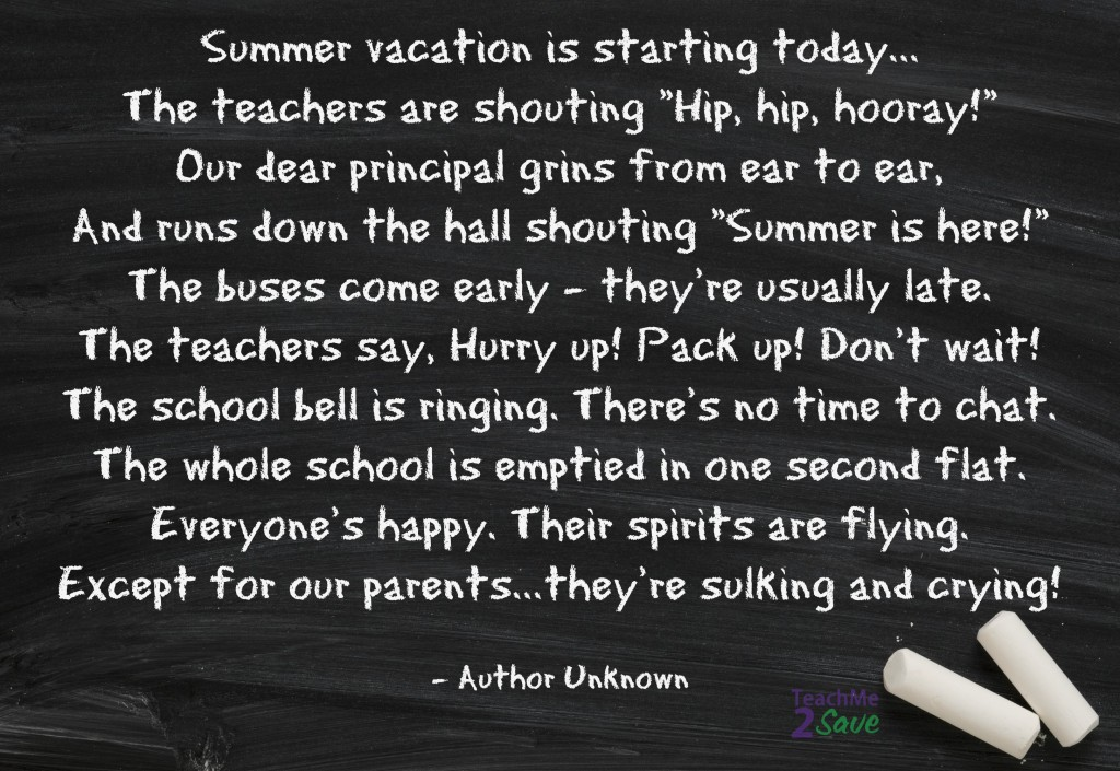 Summer Vacation Poem Archives