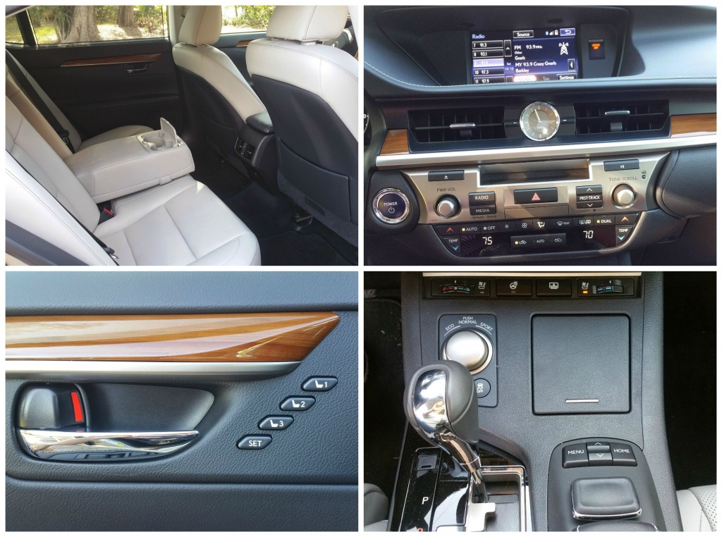 2015 Lexus ES 300h Sedan Interior Collage