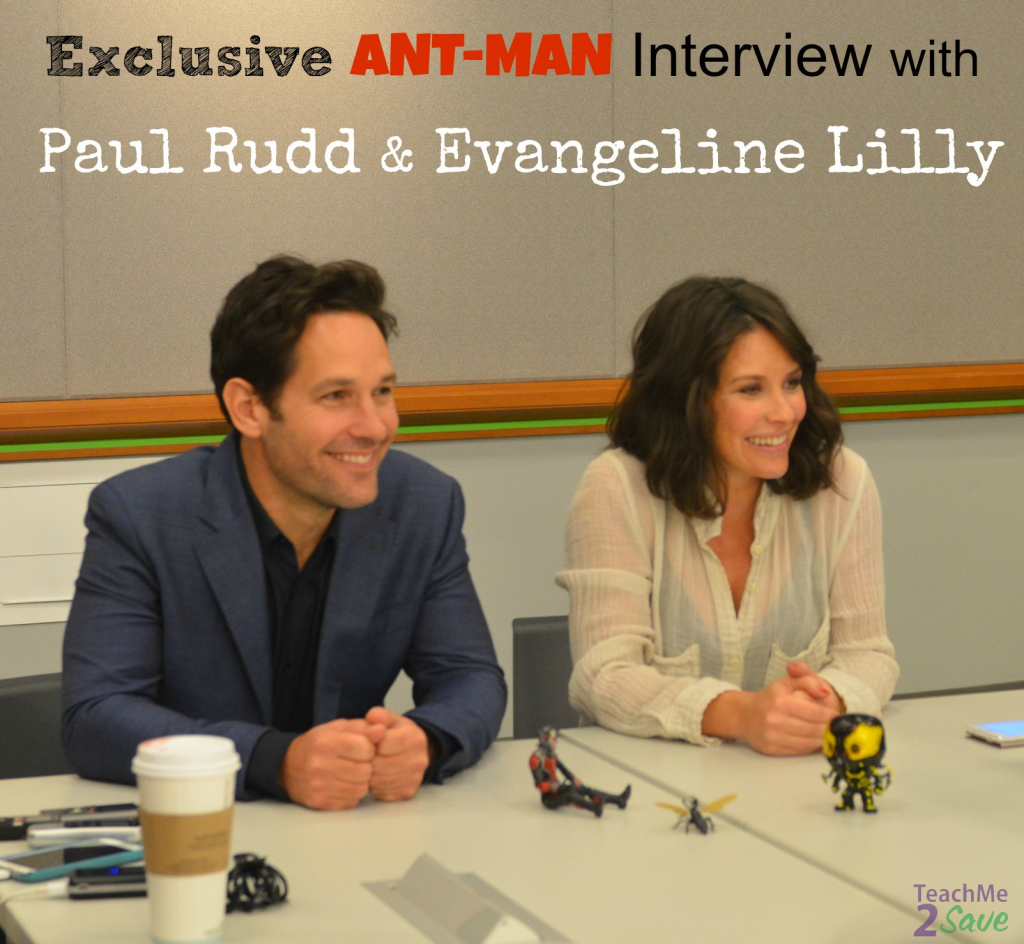 Exclusive Ant-Man Interview with Paul Rudd & Evangeline Lilly
