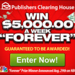 PCH: $5,000 Per Week For Life Sweepstakes