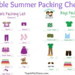 FREE Printable Summer Packing Checklist For Girls and Boys