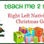 Right Left Nativity Story Christmas Game