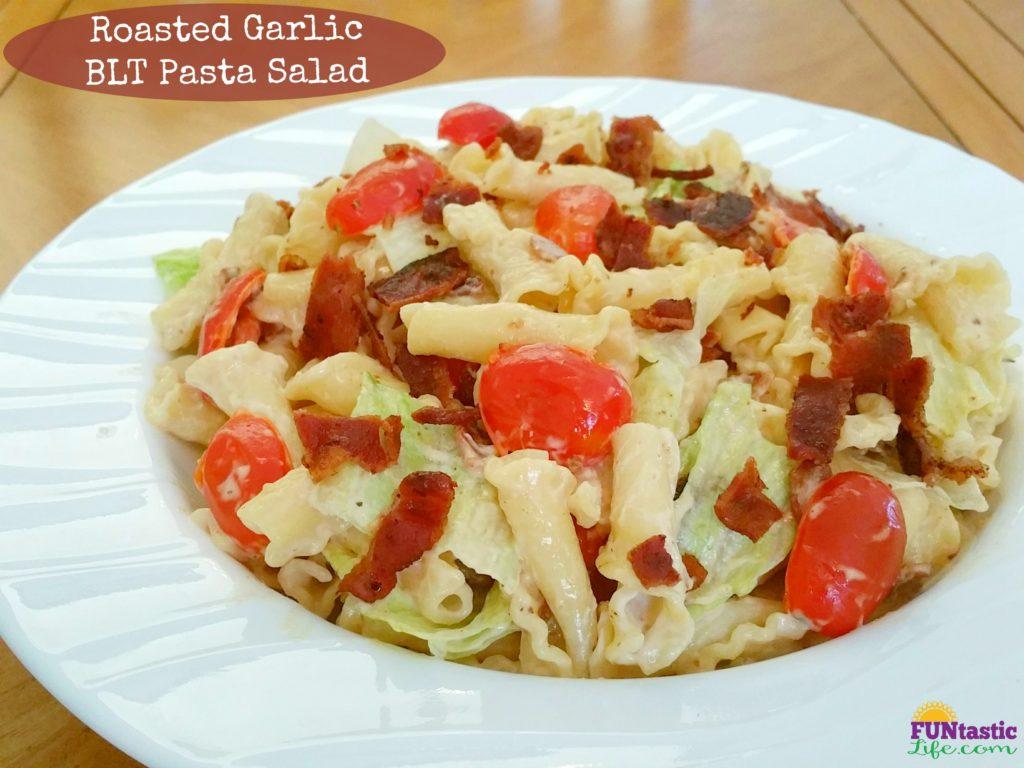 Roasted Garlic BLT Pasta Salad Recipe