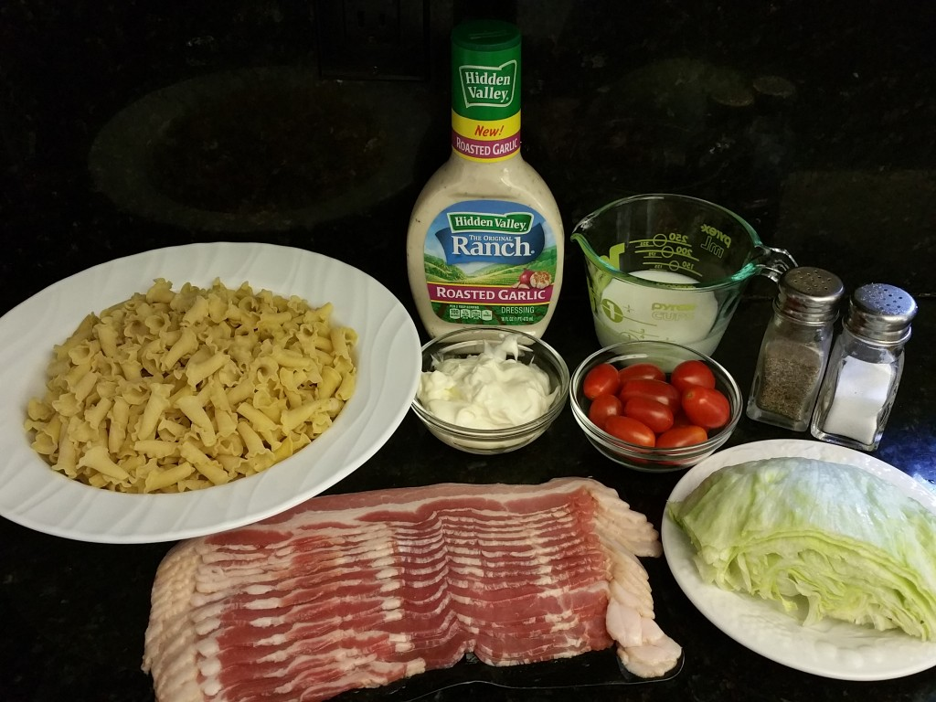 Roasted Garlic BLT Pasta Salad Recipe Ingredients